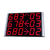 7 segments central LED displays